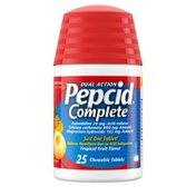 Pepcid Complete Acid Reducer + Antacid Chewable Tablets, Tropical Fruit