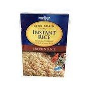 Meijer Long Grain Instant Brown Rice
