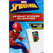Marvel Spider-Man Valentines, Giant Sticker