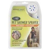 Rinse Ace Pet Shower Sprayer, 3-Way