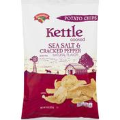 Hannaford Kettle Cooked Sea Salt & Cracked Pepper