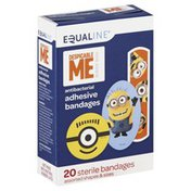 Equaline Bandages, Sterile, Adhesive, Antibacterial, Despicable Me, Assorted Shapes & Sizes