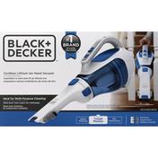 Black & Decker Hand Vacuum, Lithium Ion, Cordless