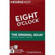 Eight O'Clock Coffee Coffee, Medium Roast, The Original Decaf, K-Cup Pods