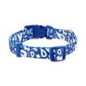 Good2 Go Medium Blue Paisley Dog Collar