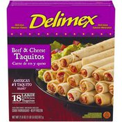 Delimex Beef & Cheese Large Flour Taquitos