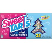 Sweet Tarts BLUE PUNCH, GREEN APPLE, CHERRY, FALVORED mini candy canes