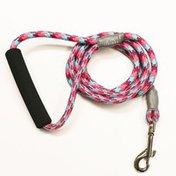 5280DOG Medium Pink Nylon Braided Rope Dog Leash
