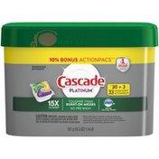Cascade Platinum ActionPacs Lemon Dishwasher Detergent