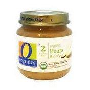 O Organics Organic Pears Baby Food
