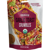 Fresh Gourmet Organic Focaccia Garlic Toast Crumbles