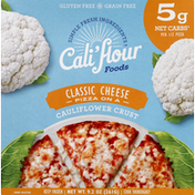 Califlour Foods Pizza, Cauliflower Crust, Classic Cheese