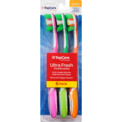 TopCare Toothbrushes, Ultra Fresh, Soft, 6 Pack