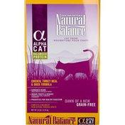 Natural Balance Alpha Cat Chicken Turkey Meal & Duck Grain Free Dry Cat Food