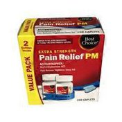 Best Choice Extra Strength Pan Relief PM Caplets Value Pack