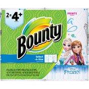 Bounty Select-A-Size Paper Towels, Disney Frozen Print, 2 Bulk Rolls = 4+ Regular Rolls Towels/Napkins