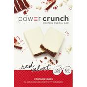 Power Crunch Protein Energy Bar, Red Velvet, 5 Pack
