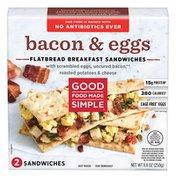 Good Food Made Simple Bacon & Eggs, Flatbread Breakfast Sandwich