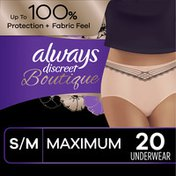 Always Discreet Discreet Boutique, Incontinence Underwear, Maximum Protection