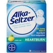 Alka-Seltzer Heartburn Lemon Lime Effervescent Tablets Antacid