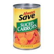 Always Save Sliced Carrots