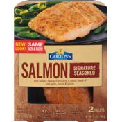 Gorton's Signature Seasoned Salmon 2 ct Tray