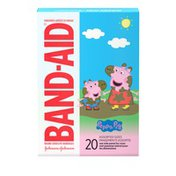 Band-Aid Brand Adhesive Bandages Featuring Peppa Pig, Assorted Sizes