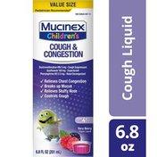 Mucinex® Congestion and Cough, Children's Congestion & Cough Liquid, Berrylicious, Value Size