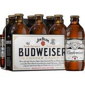 Budweiser Reserve Jim Beam Copper Lager Beer Bottles