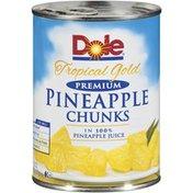 Dole Tropical Gold Premium In 100% Pineapple Juice Pineapple Chunks