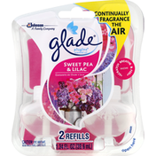 Glade Oil Refills, Scented, Sweet Pea & Lilac