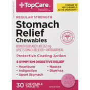 TopCare Stomach Relief, Chewables, Regular Strength, Tablets