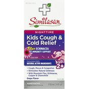 Similasan Cough & Cold Relief, Kids, Nighttime, Cough Syrup, Grape Flavor