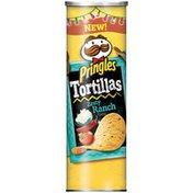 Pringles Tortillas Zesty Ranch Tortilla Crisps