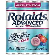 Rolaids Antacid Plus Anti-Gas, Multi-Symptom, Tablets, Assorted Berries