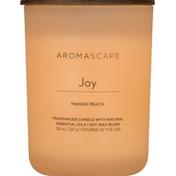 Aromascape Candle, Mango Peach, Joy