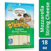 Organic Valley Organic Stringles Low Moisture Part Skim Milk Organic Mozzarella Cheese Sticks