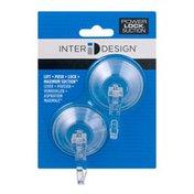 iDesign(TM) Power Lock Suction Hooks - 2 CT