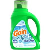 Gain Oxi Boost Coldwater Icy Fresh Fizz Liquid Laundry Detergent