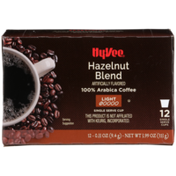 Hy-Vee Light Roast Hazelnut Blend 100% Arabica Coffee Single Serve Cups