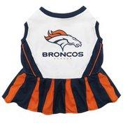 Pets First NFL Denver Broncos Cheerleader Dog Dress