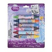 Disney Princess Jumbo Double Sided Crayons - 6 PK