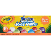 Crayola Kids' Paint, Washable, 10 Neon Colors