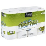 Essential Everyday Paper Towels, Mighty Absorbent, Giant Rolls, Full Size, Two-Ply