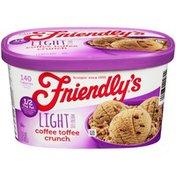 Friendly's Coffee Toffee Crunch Light Ice Cream