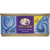 Wellness Food for Cats, Chicken & Herring Formula