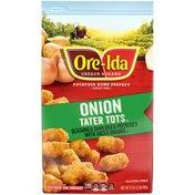 Ore-Ida Onion Tater Tots Seasoned Shredded Frozen Potatoes with Diced Onions