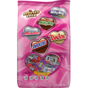Mars SNICKERS, TWIX, MILKY WAY & 3 MUSKETEERS Valentine's Day Chocolate Candy Minis Mix