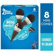 Blue Bunny Mini Swirls Cookies 'N Cream Cones