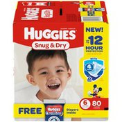 Huggies Snug & Dry Giga BONUS Pack (Choose Your Size) Diapers
